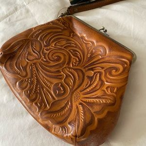 Patricia Nash embossed leather purse clutch